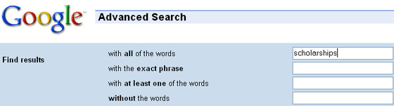 Google Advanced Search.